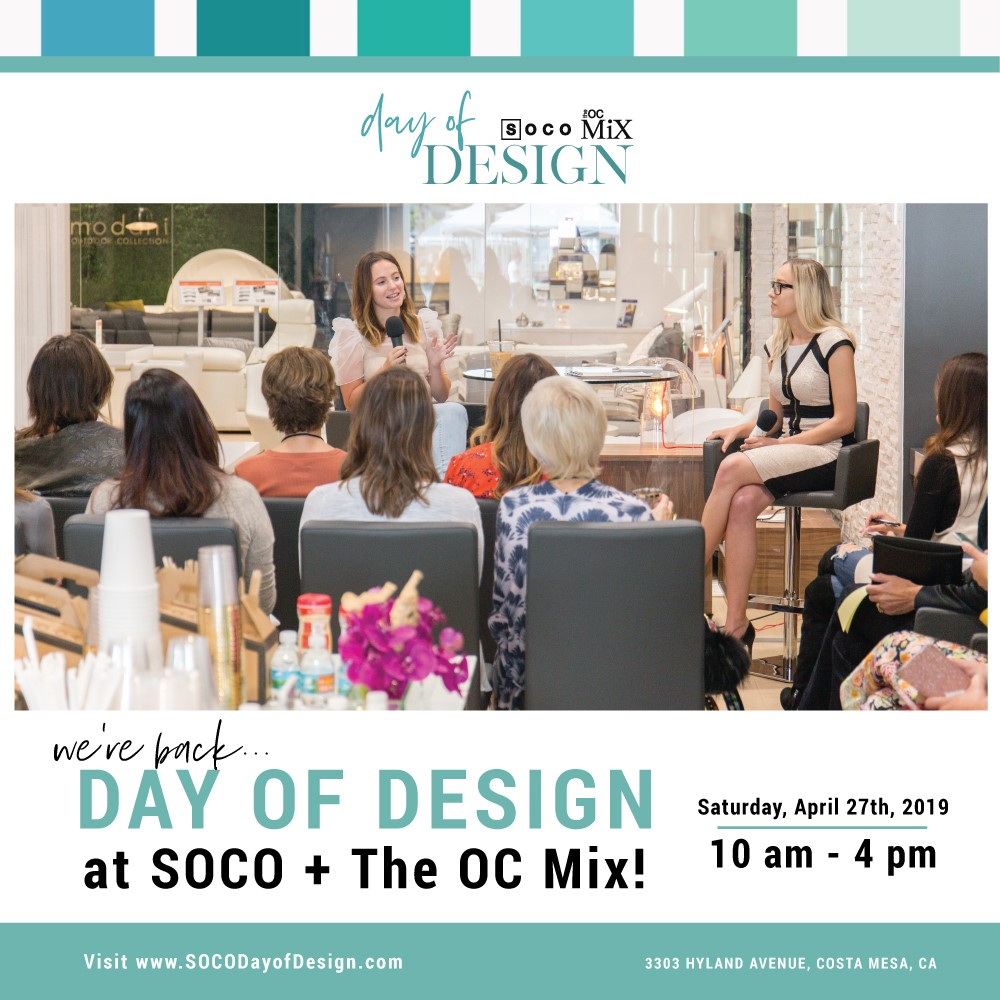 Springtime Specials and Events at SOCO + The OC Mix