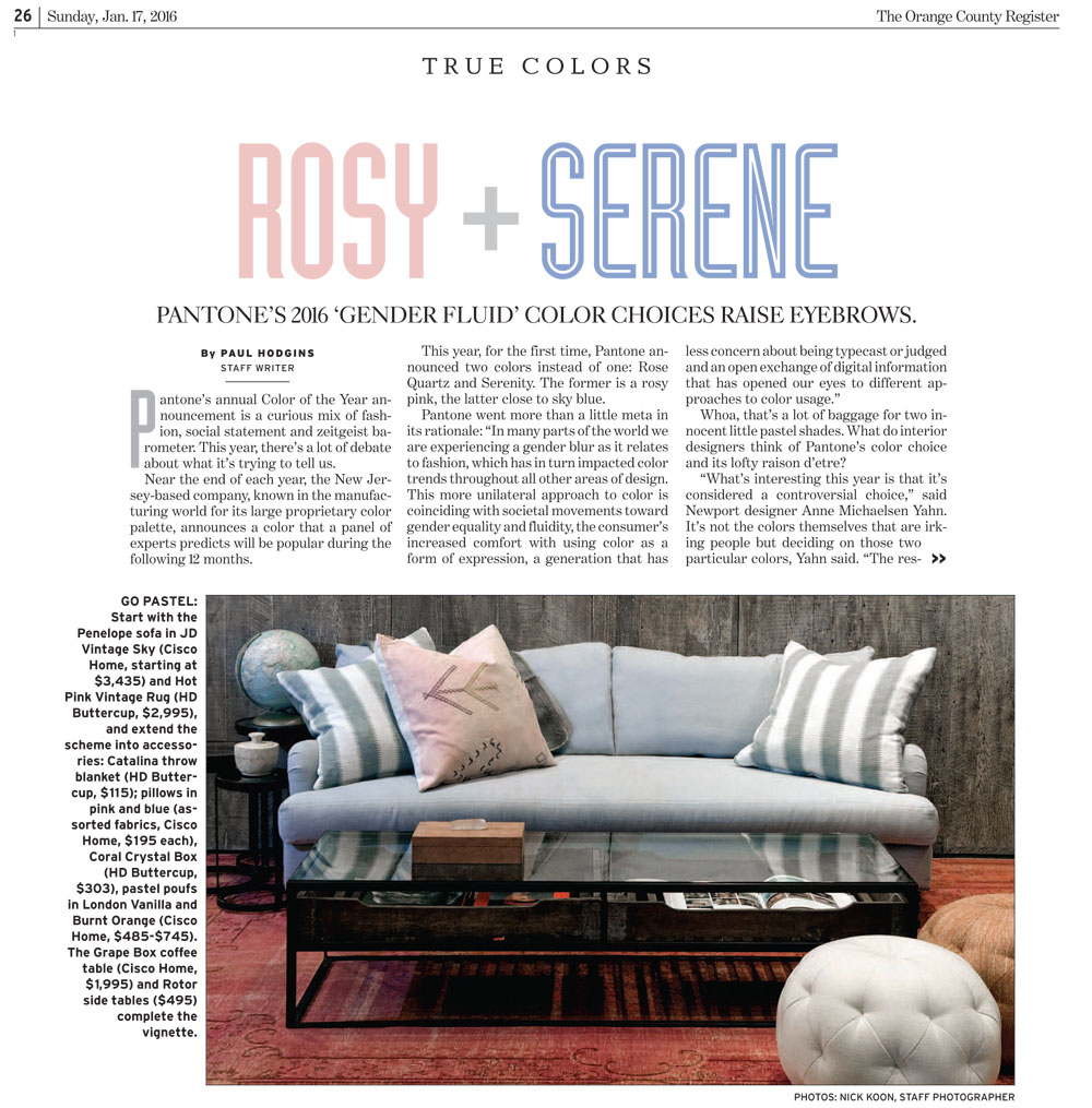 OC Register: True Colors: Rosy + Serene
