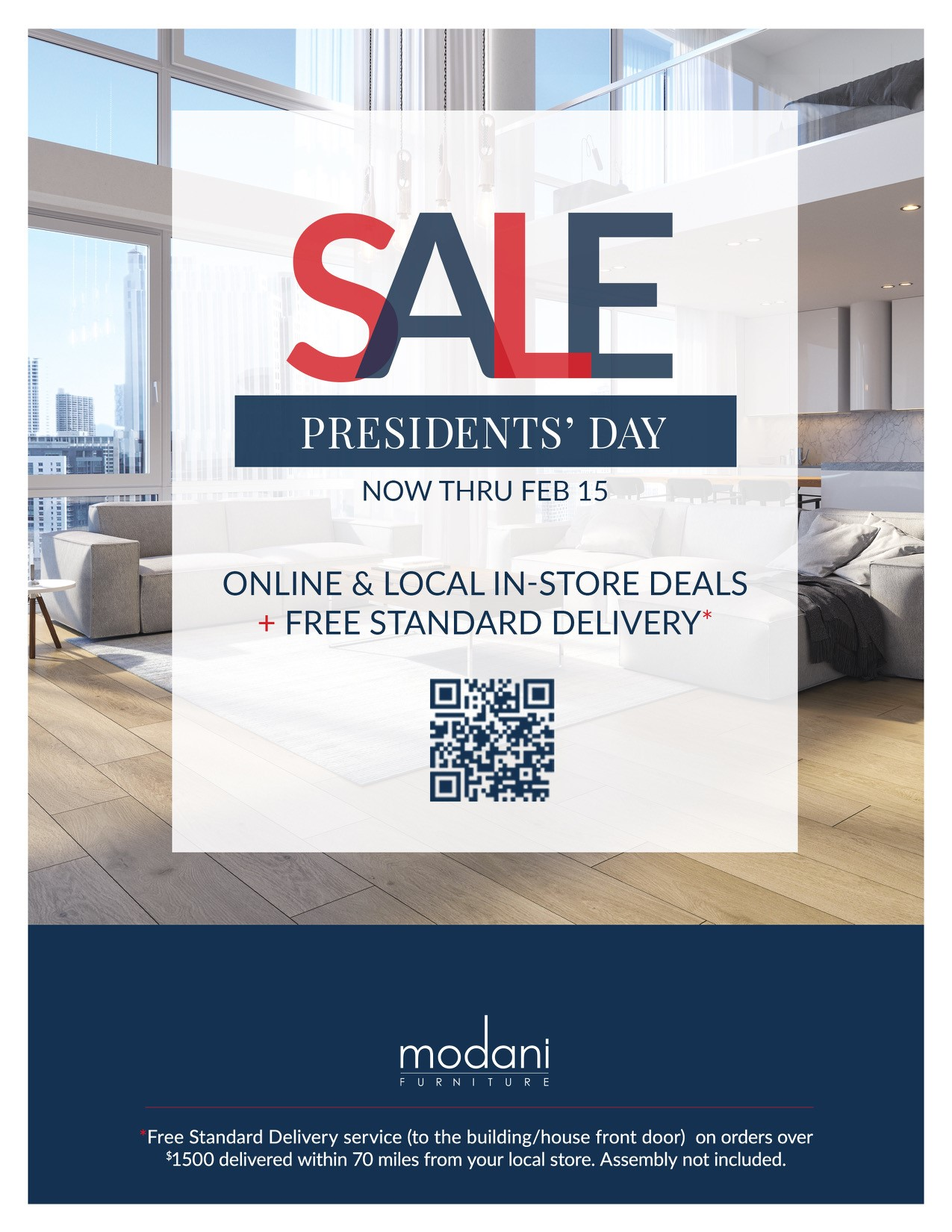 Modani Furniture Showcase for Presidents' Day Sale